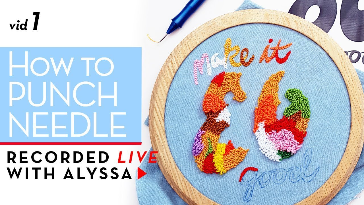 Free Punch Needle Embroidery Patterns Learn How To Punch Needle Relaxandcraft Livereplay