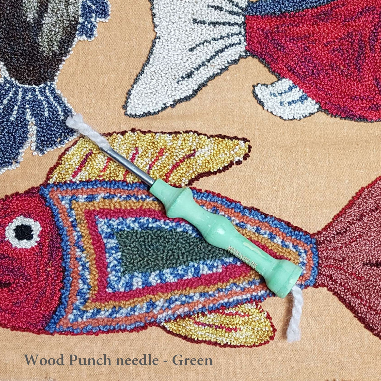 Free Punch Needle Embroidery Patterns Punch Needle Embroidery Needle Punching Supplies Tapestry Rug Hooking Needle Wood Handle Handmade Vintage Style