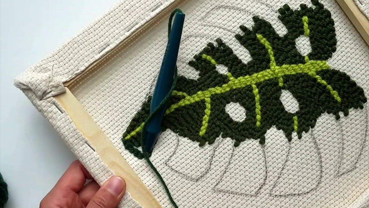 Free Punch Needle Embroidery Patterns Punch Needle Stitches In Detail