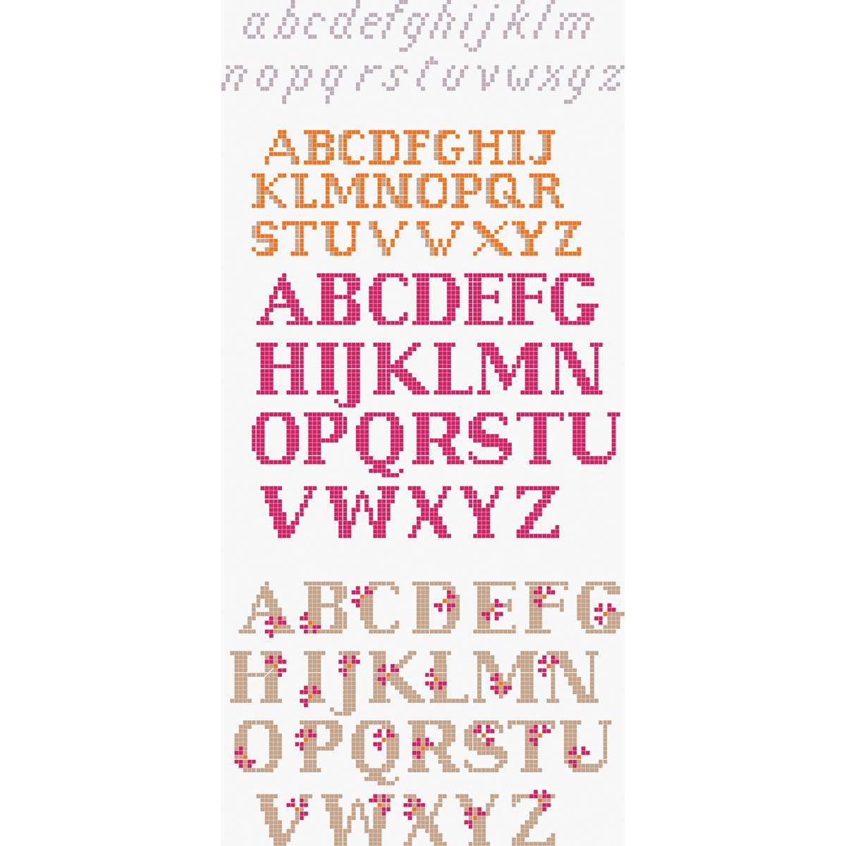 Hand Embroidery Alphabet Patterns Free Free Pattern Dmc Mixed Font Alphabet Cross Stitch 0114 Hobcraft