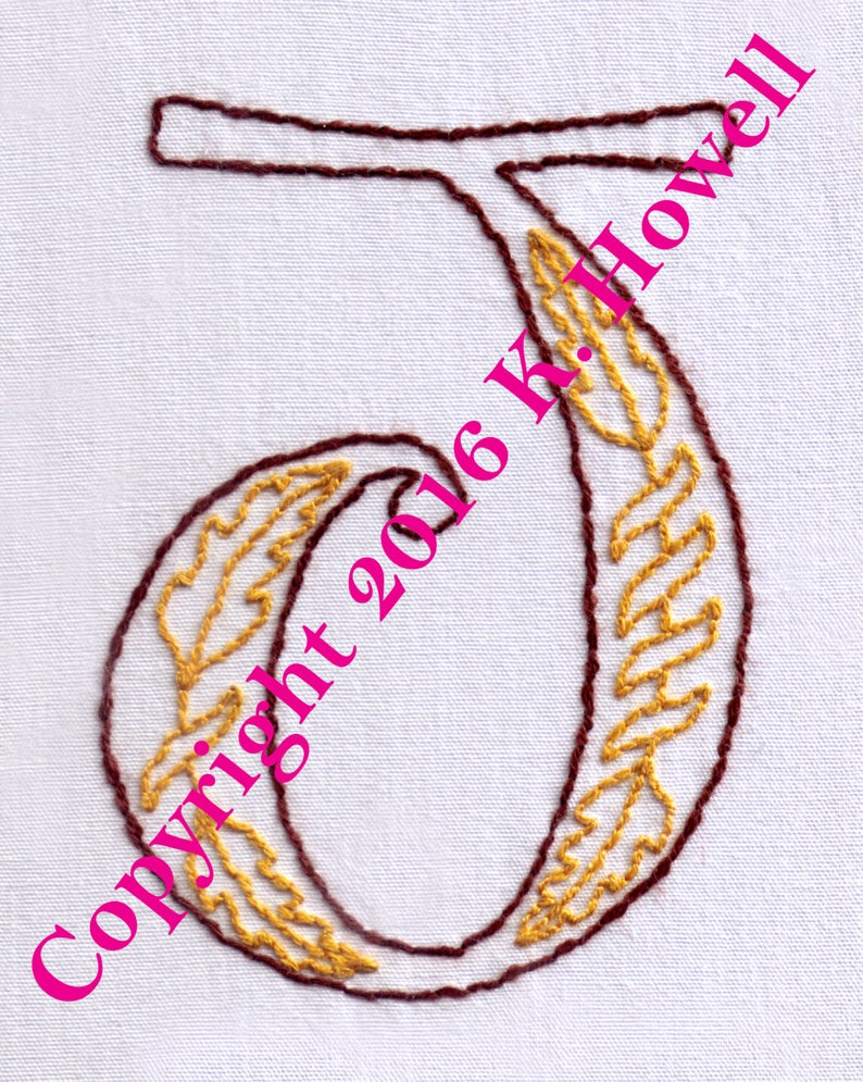 Hand Embroidery Alphabet Patterns Free J Hand Embroidery Pattern Medieval Letter Monogram Font Illuminated Manuscript Pdf