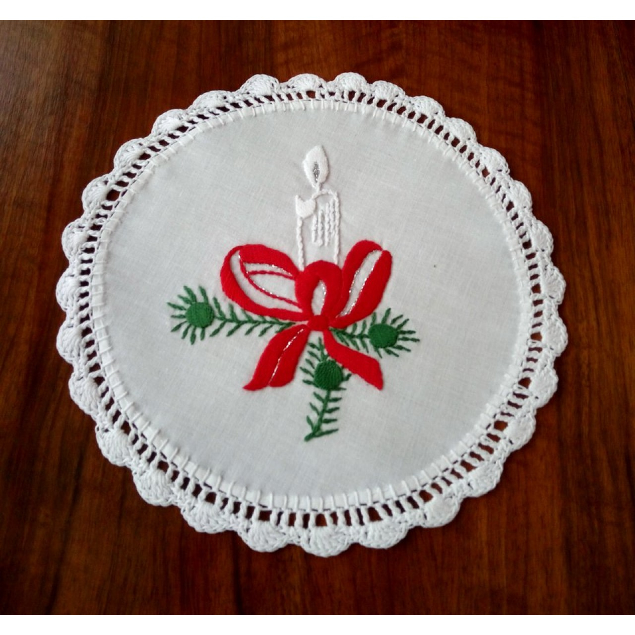 Hand Embroidery Christmas Patterns Christmas Ornament With Candle Chr Doi 333