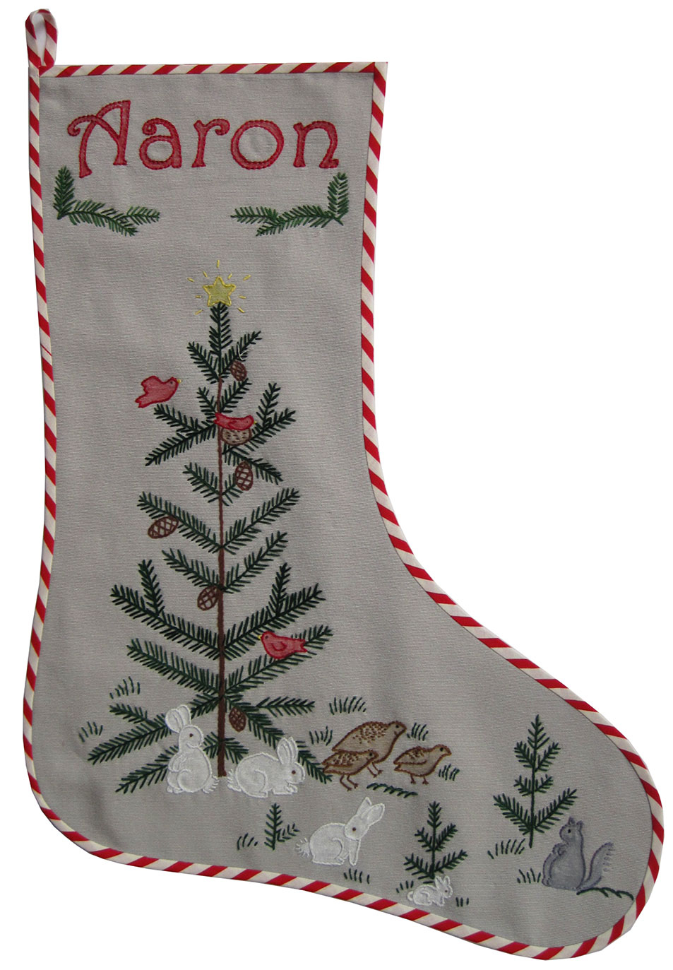 Hand Embroidery Christmas Patterns Embroidered Christmas Stocking Woodland Animals Q Is For Quilter