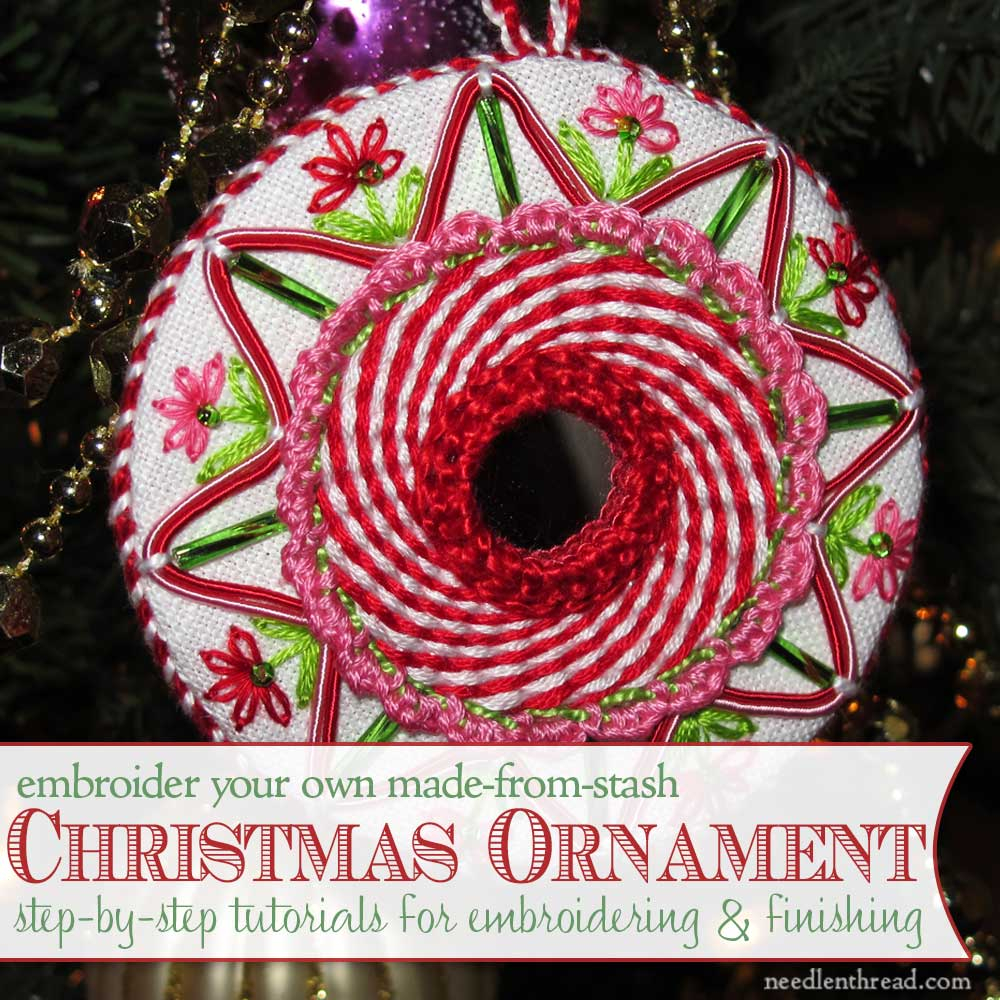 Hand Embroidery Christmas Patterns Hand Embroidered Christmas Ornaments Index Needlenthread