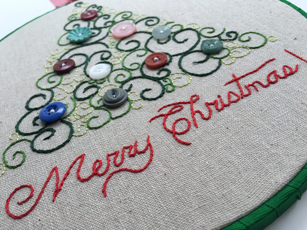 Hand Embroidery Christmas Patterns Scroll Tree Christmas Hand Embroidery Pattern Aimee Flickr