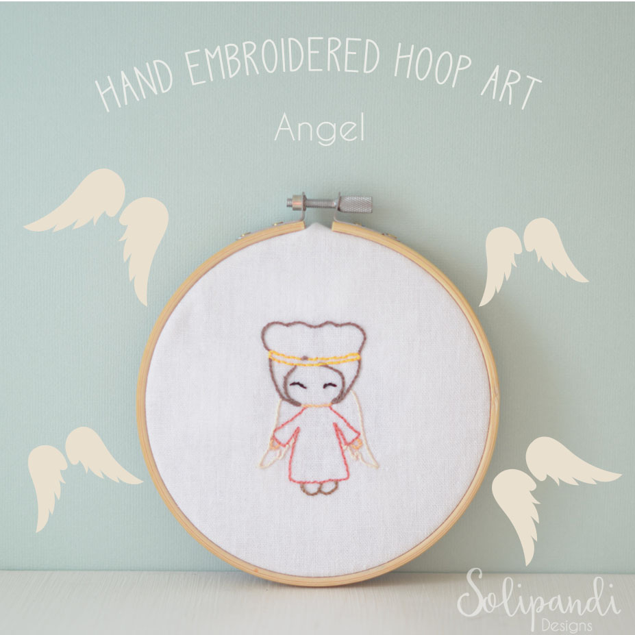 Hand Embroidery Christmas Patterns Singing Angel Hand Embroidery Design Pdf Pattern Instand