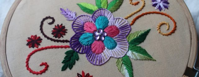 Hand Embroidery Patterns For Beginners Hand Embroidery Designs Basic Design Tutorial Stitch And Flower 135