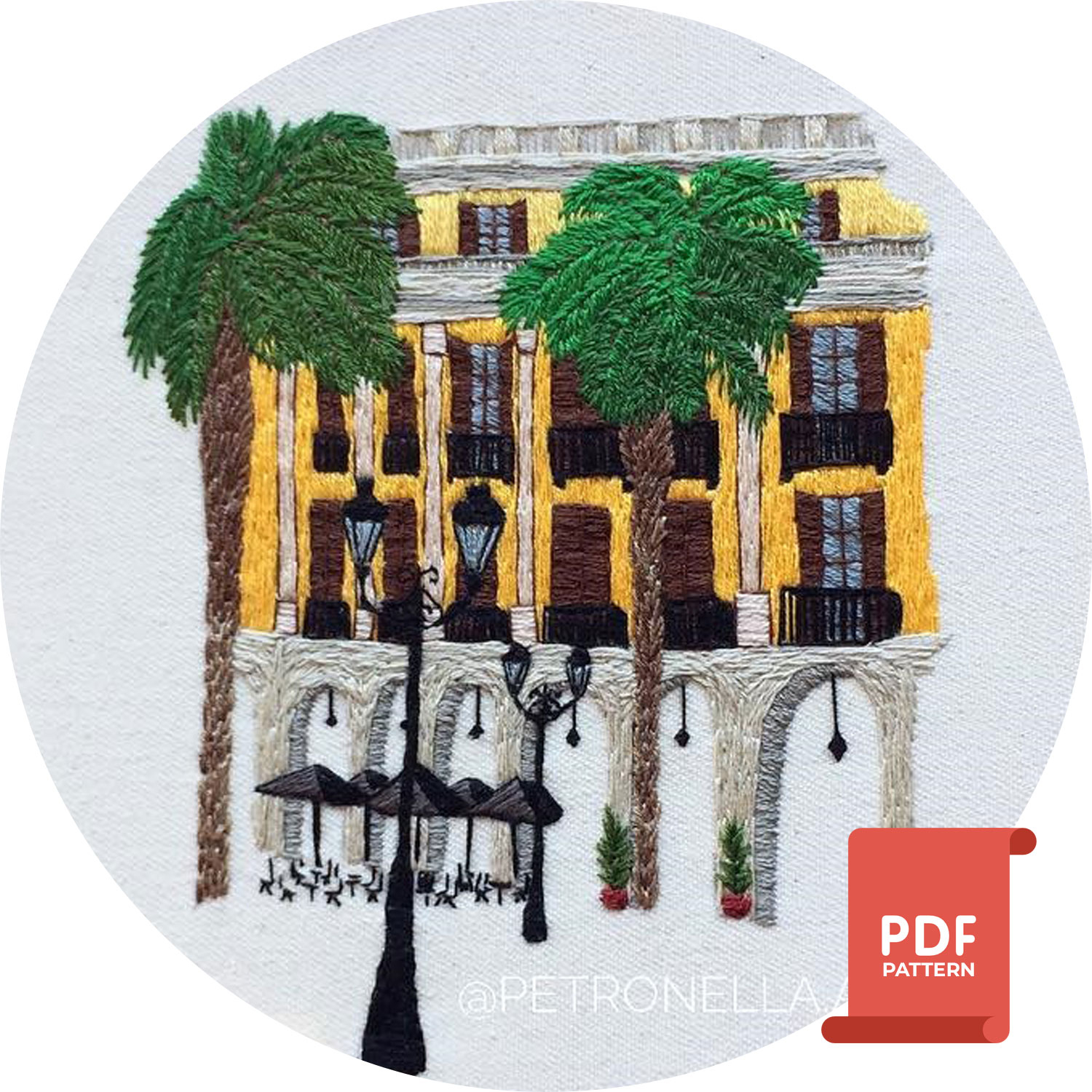 How To Design Embroidery Patterns By Hand Barcelona Embroidery Design Hand Embroidery Pattern