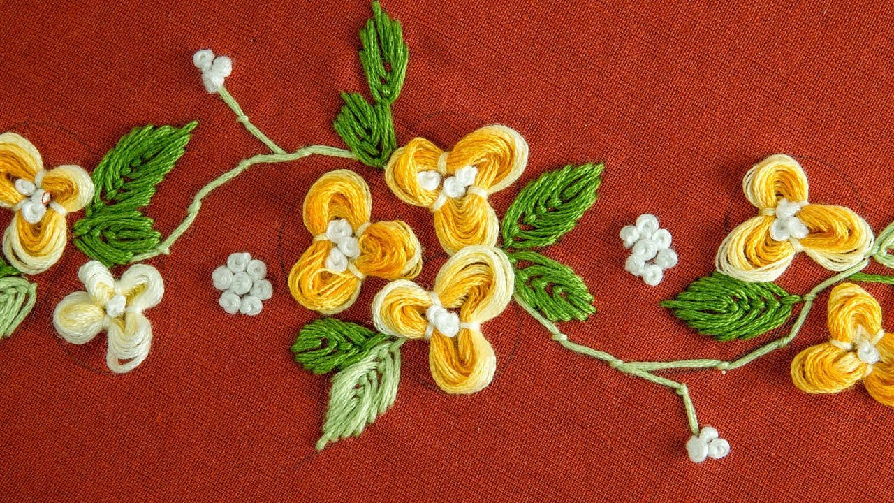 How To Design Embroidery Patterns By Hand Easy Diy Flower Hand Embroidery Pattern Handiworks