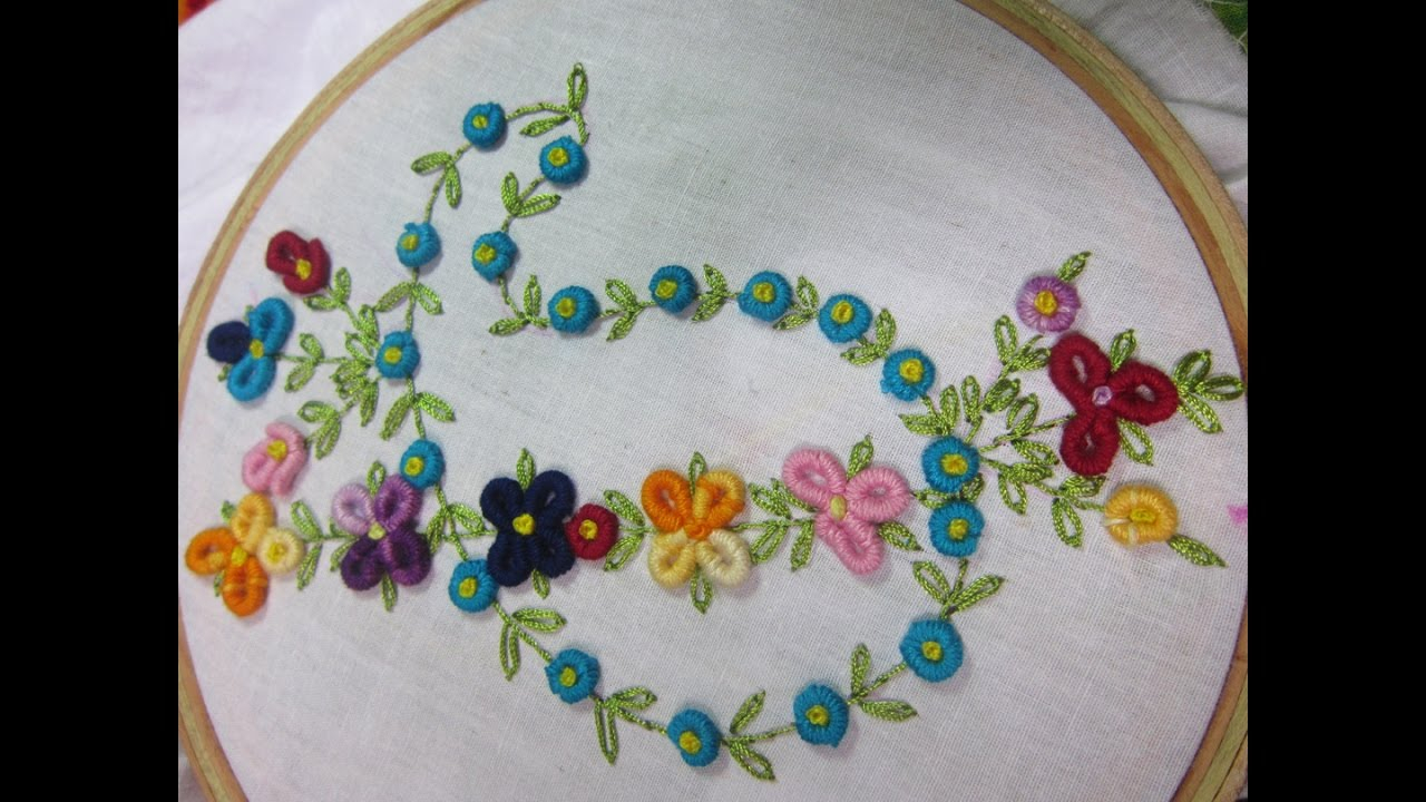 How To Design Embroidery Patterns By Hand Hand Embroidery Designs Design For Dresses Stitch And Flower 74