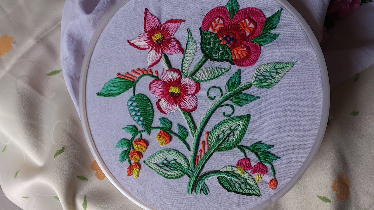 How To Design Embroidery Patterns By Hand Hand Embroidery Designs Embroidery For Sarees And Dresses