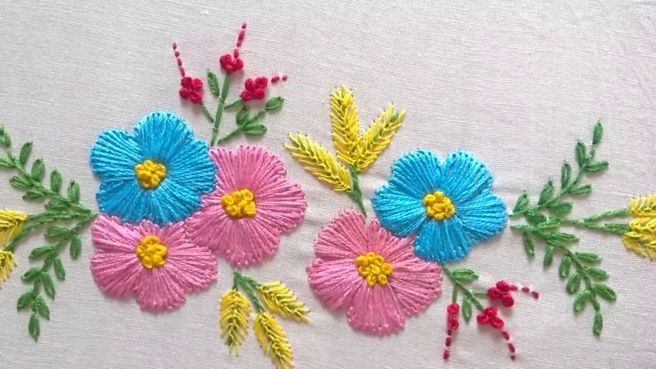 How To Design Embroidery Patterns By Hand Hand Embroidery Designs Tiny Design For Cushion Covers