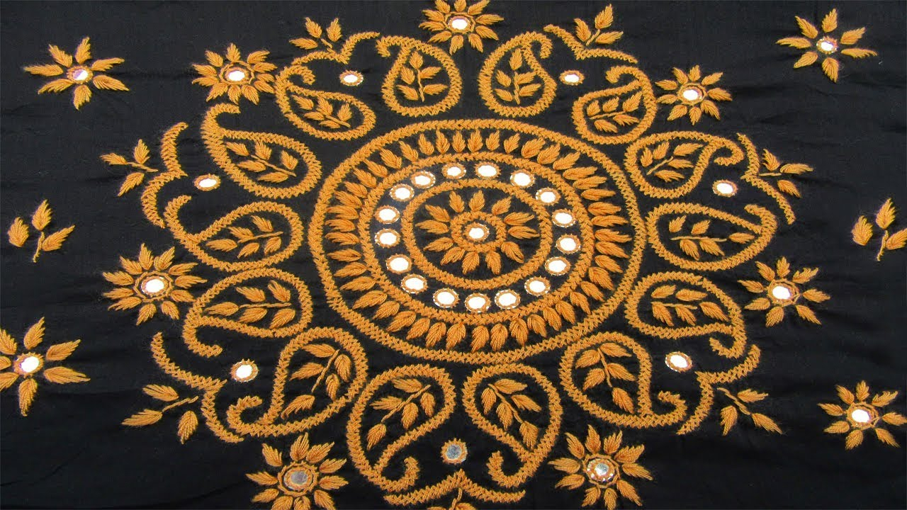 How To Design Embroidery Patterns By Hand Hand Embroidery Dress Design Or Pillow Covercushion Cover Design