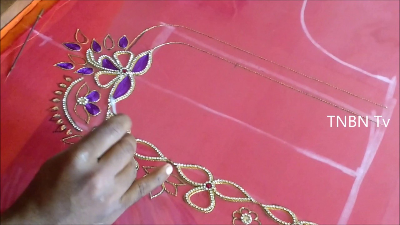 How To Design Embroidery Patterns By Hand Hand Embroidery Tutorial For Beginners Mirror Work Embroidery