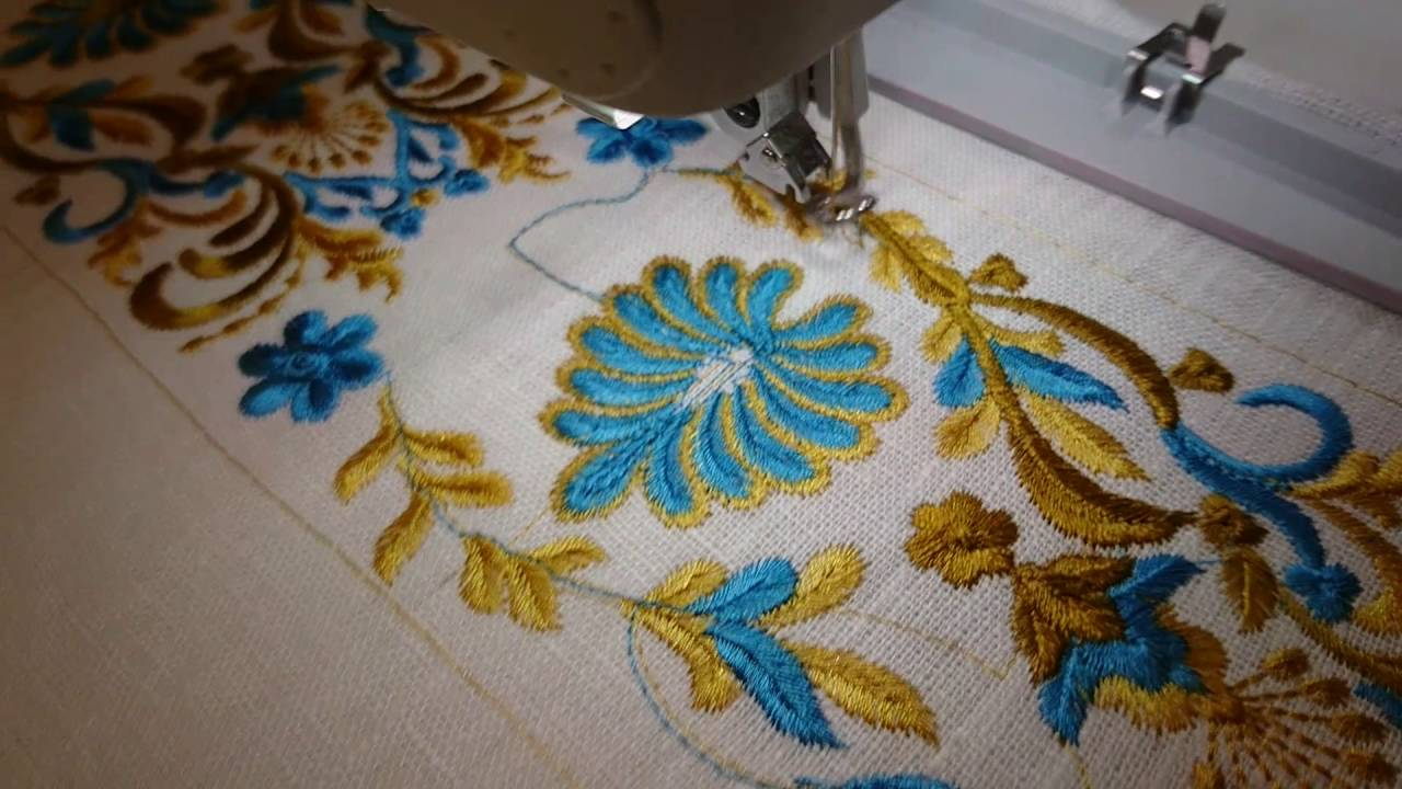 How To Design Embroidery Patterns For Machine Machine Embroidery Design Indian Border Royal Present Embroidery