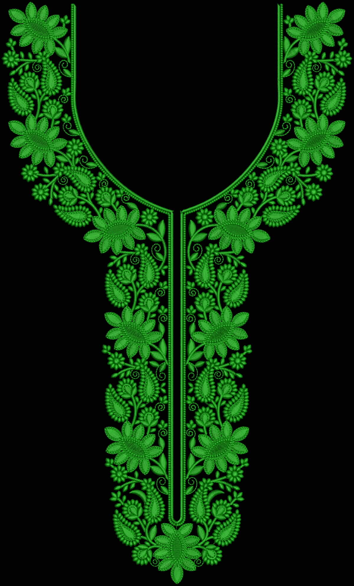 How To Design Embroidery Patterns For Machine Neck Embroidery Design For Use On Salwar Suite Dress And Kurta