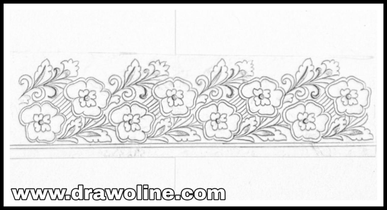 How To Design Embroidery Patterns For Machine Sari Ka Kinara Drawingsaree Border Design Drawing For Hand Works