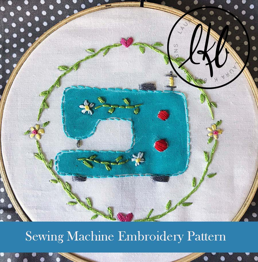 How To Design Embroidery Patterns For Machine Sew Cute Embroidery Pattern Pdf Laura K Bray Designs
