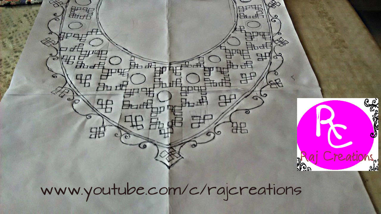 How To Make An Embroidery Pattern Abhivyaktiya Neck Embroidery Pattern