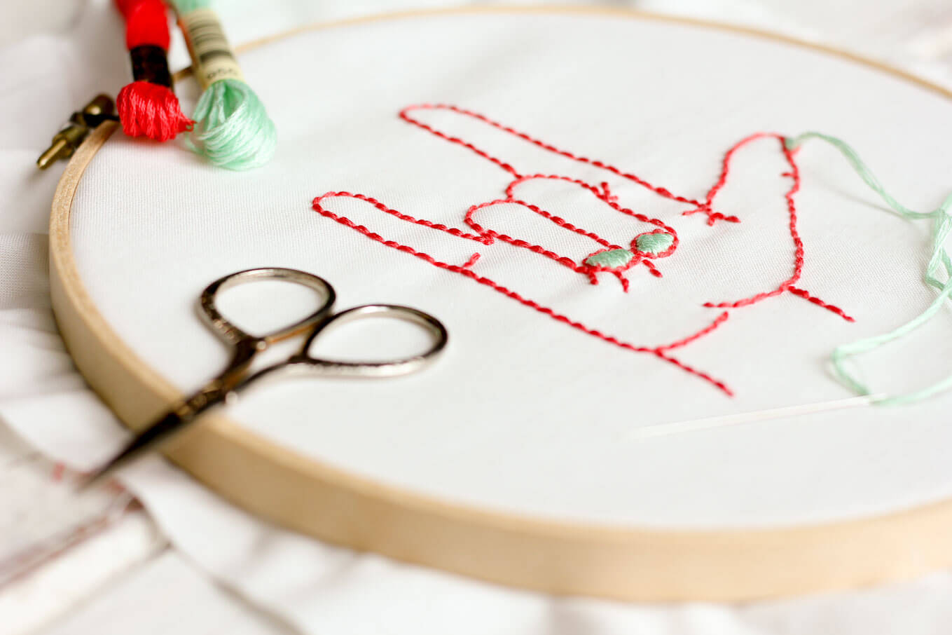 How To Make An Embroidery Pattern I Love You Free Embroidery Pattern Make Do Crew