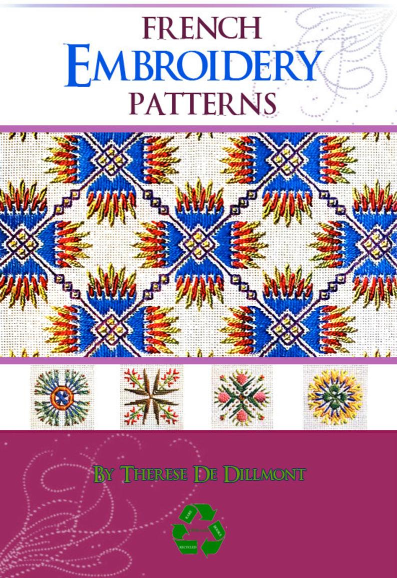 How To Read Embroidery Patterns 38 Pages Of French Embroidery Patterns Rare German Book Printable Or Read On Your Ipad Or Tablet Instant Download