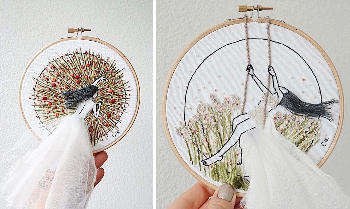 How To Read Embroidery Patterns 3d Embroidery Designs Feature Hair That Flows From The Frame