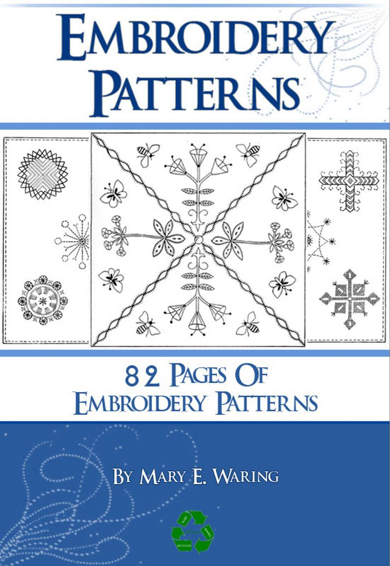 How To Read Embroidery Patterns 82 Pages Of Embroidery Patterns Rare Printable Book Or Read On Your Ipad Or Tablet Instant Download