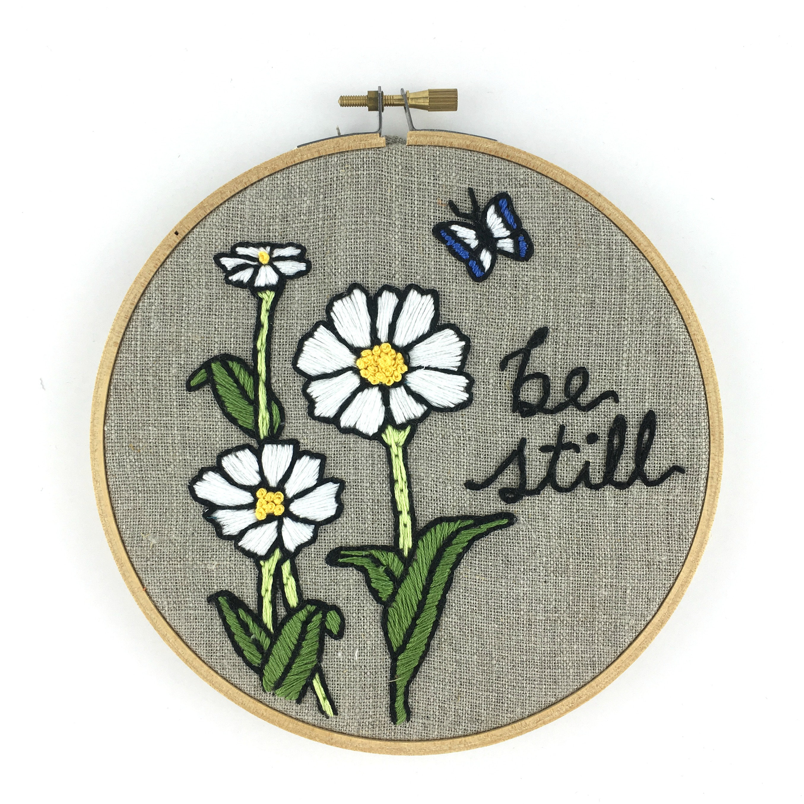 How To Read Embroidery Patterns Be Still Embroidery Kit Easy Beginner Embroidery Kit Floral
