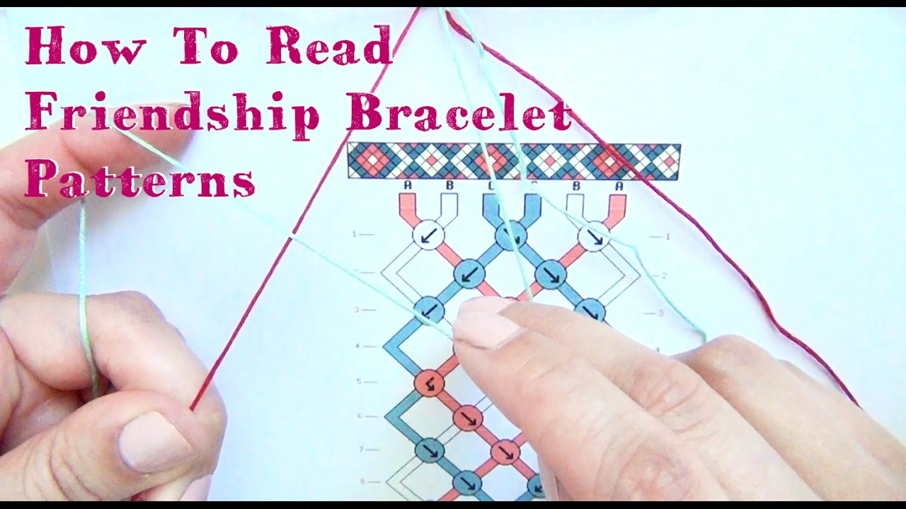 How To Read Embroidery Patterns How To Read Friendship Bracelet Patterns Tutorial
