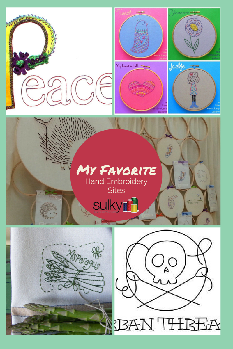 How To Read Embroidery Patterns My Favorite Sites For Hand Embroidery Patterns A Giveaway Sulky