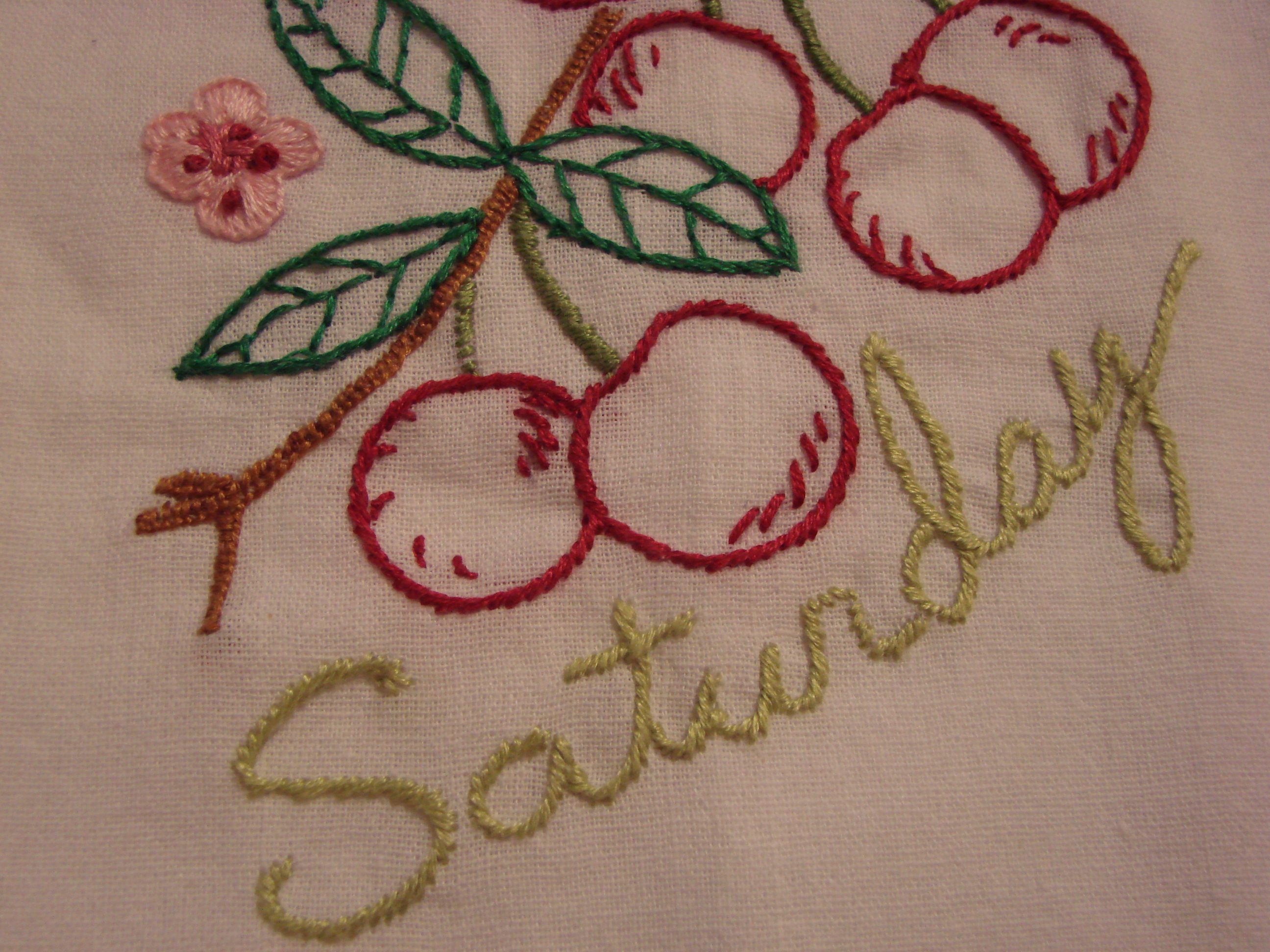 Kitchen Towel Embroidery Patterns Days Of The Week Tea Towels Craft Crossing