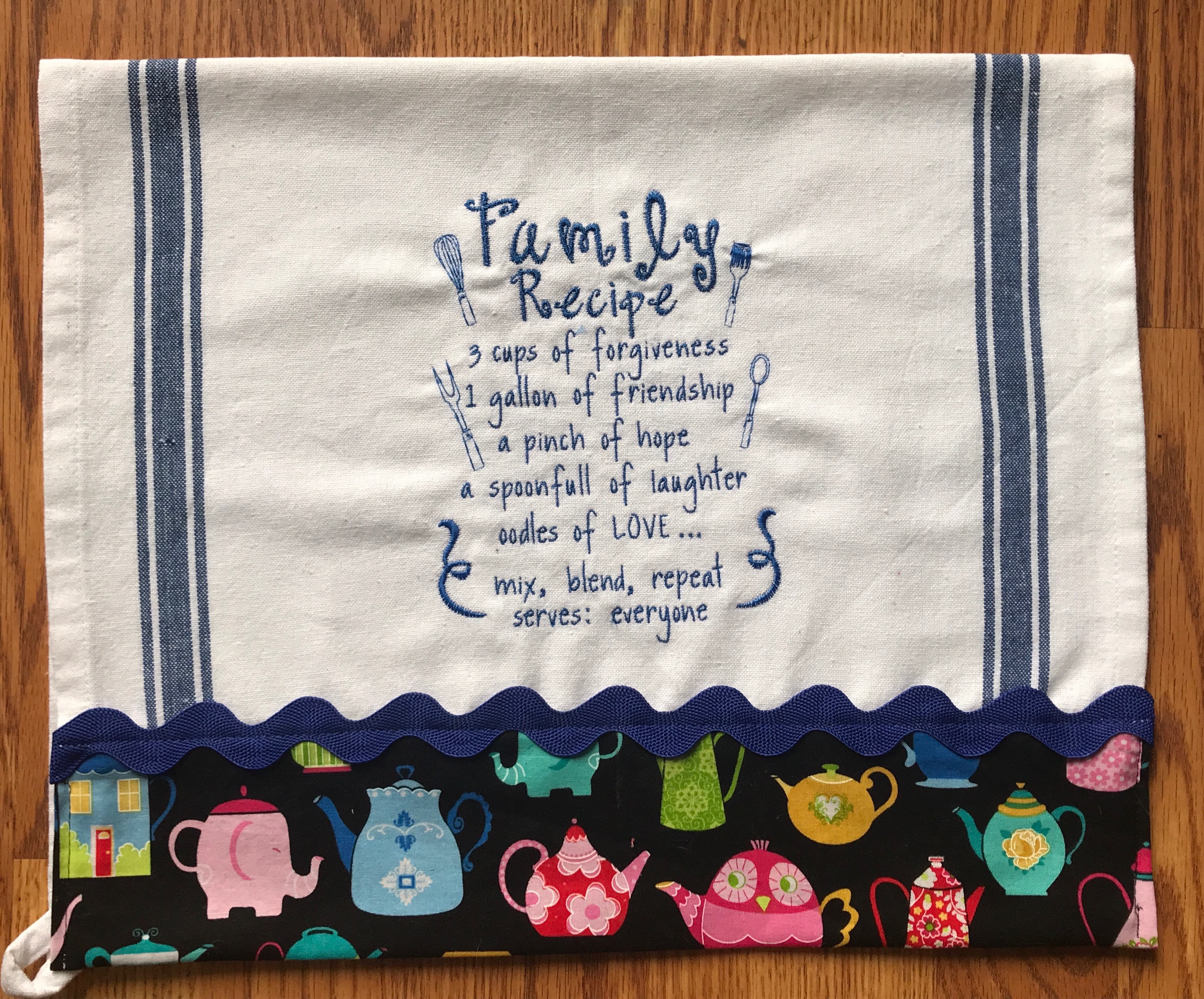 Kitchen Towel Embroidery Patterns Embroidery Lettering Tea Towel Huntington Beach 1 Session Moores Sewing