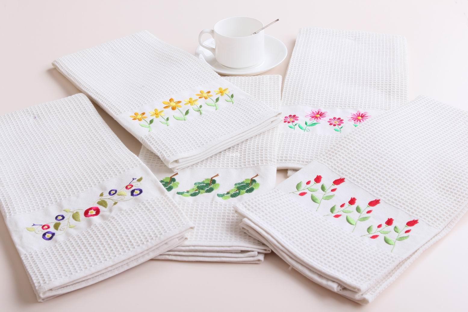 Kitchen Towel Embroidery Patterns Kitchen Towel Cotton Kitchen Towel Kitchen Tea Towelcotton Waffle