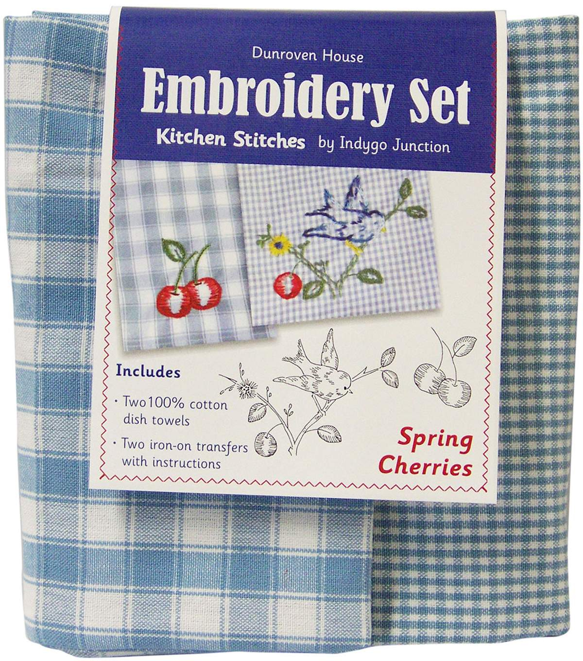 Kitchen Towel Embroidery Patterns Spring Cherries Kitchen Stitches Tea Towel Embroidery Kit 20x28