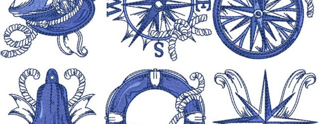 Nautical Embroidery Patterns Chevron Nautical