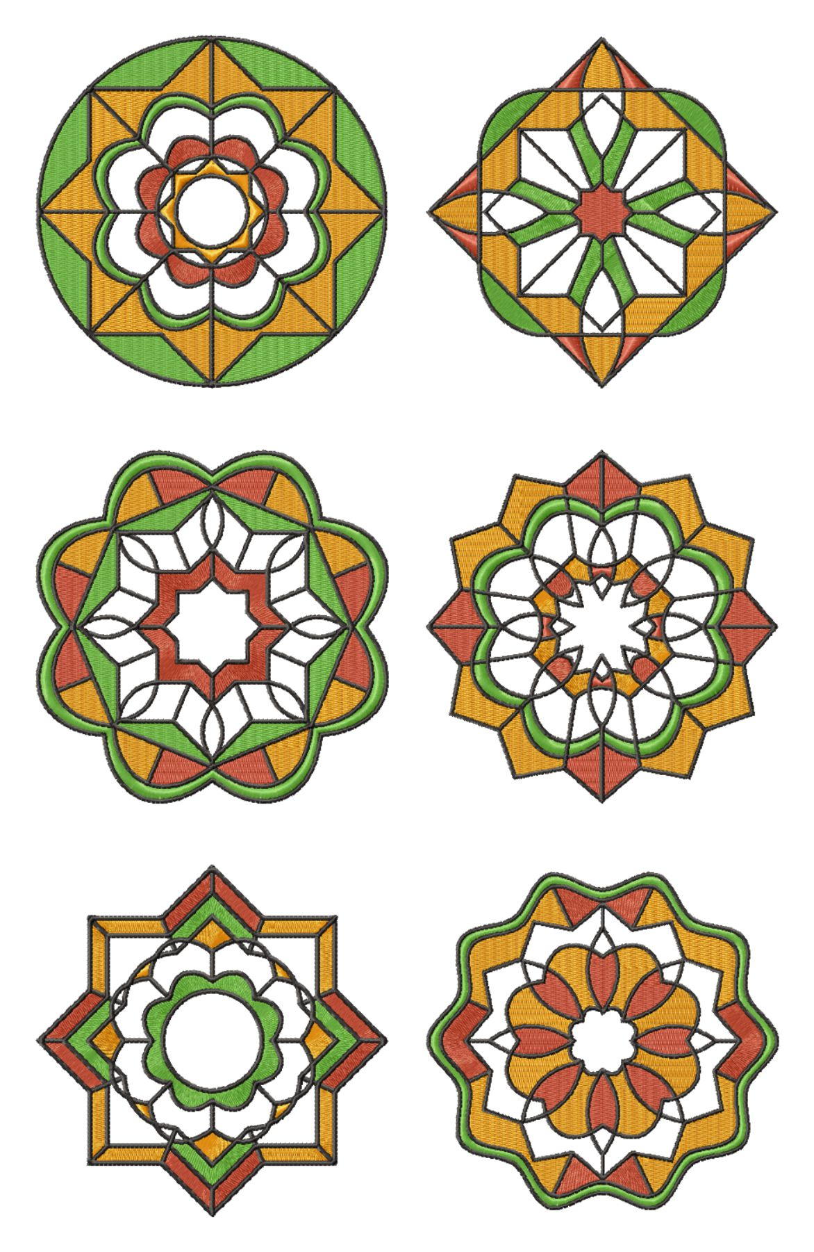 Nautical Embroidery Patterns Mandala Applique Set