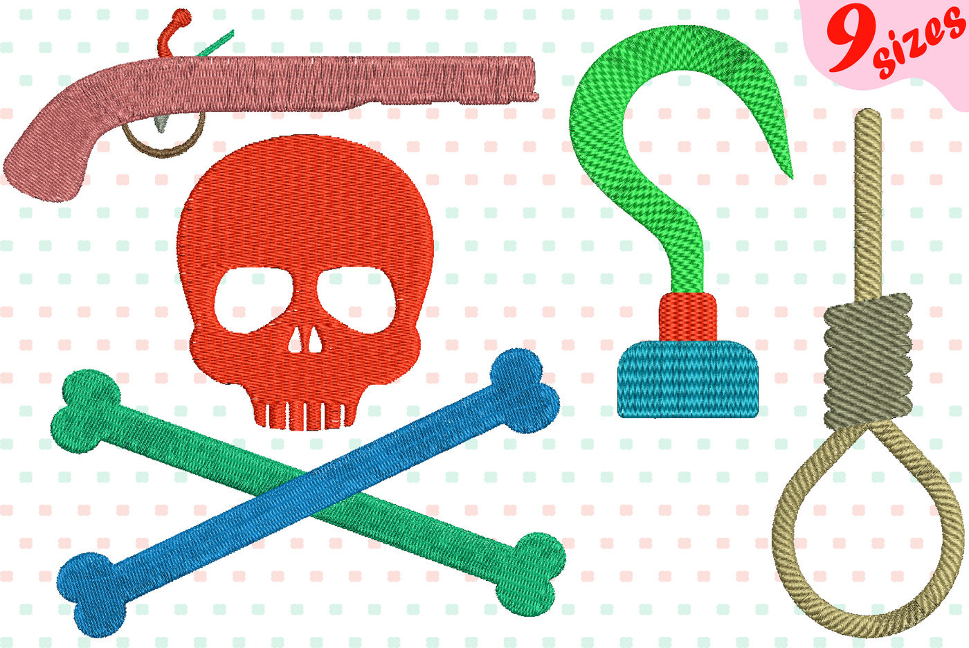Nautical Embroidery Patterns Pirates Embroidery Design Machine Instant Download Commercial Use