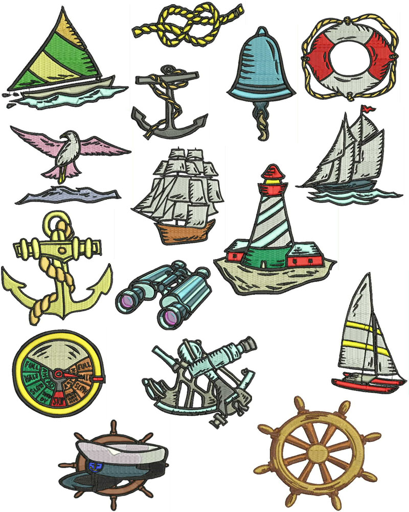 Nautical Embroidery Patterns When You Click On The Images Below You Will See All The Designs That