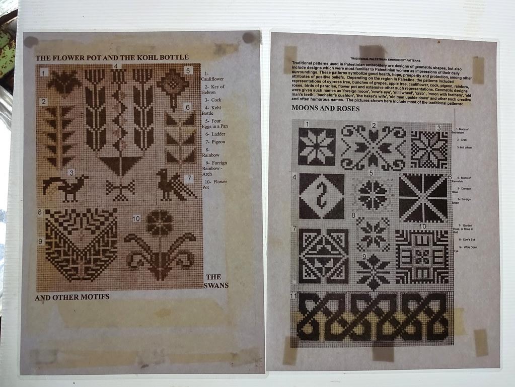 Palestinian Embroidery Patterns Palestinian Embroidery Patterns Palestine Museum Bristol Flickr