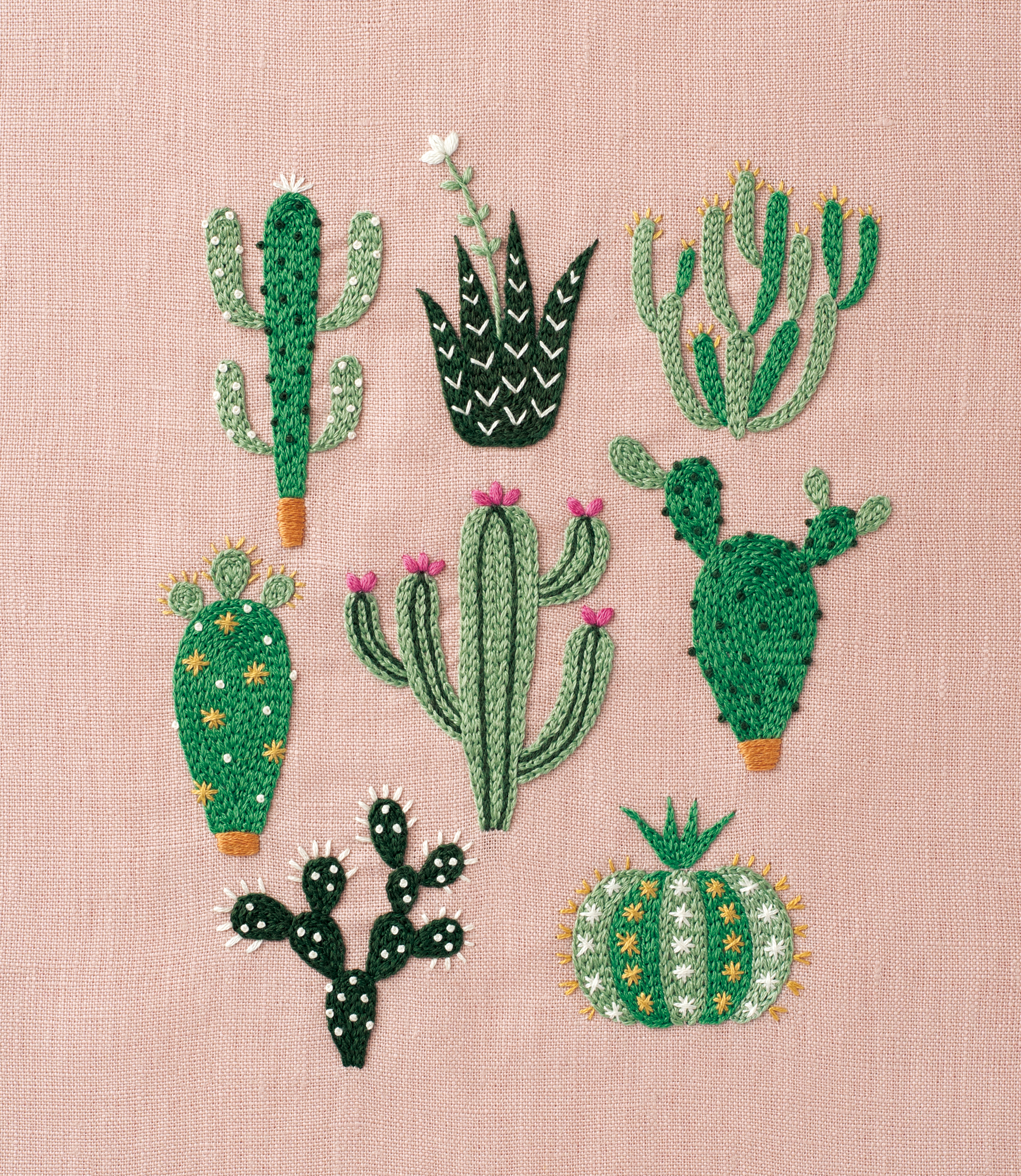 Paper Embroidery Cards Free Patterns Diy Floral Cactus Embroidery Projects From A Year Of Embroidery