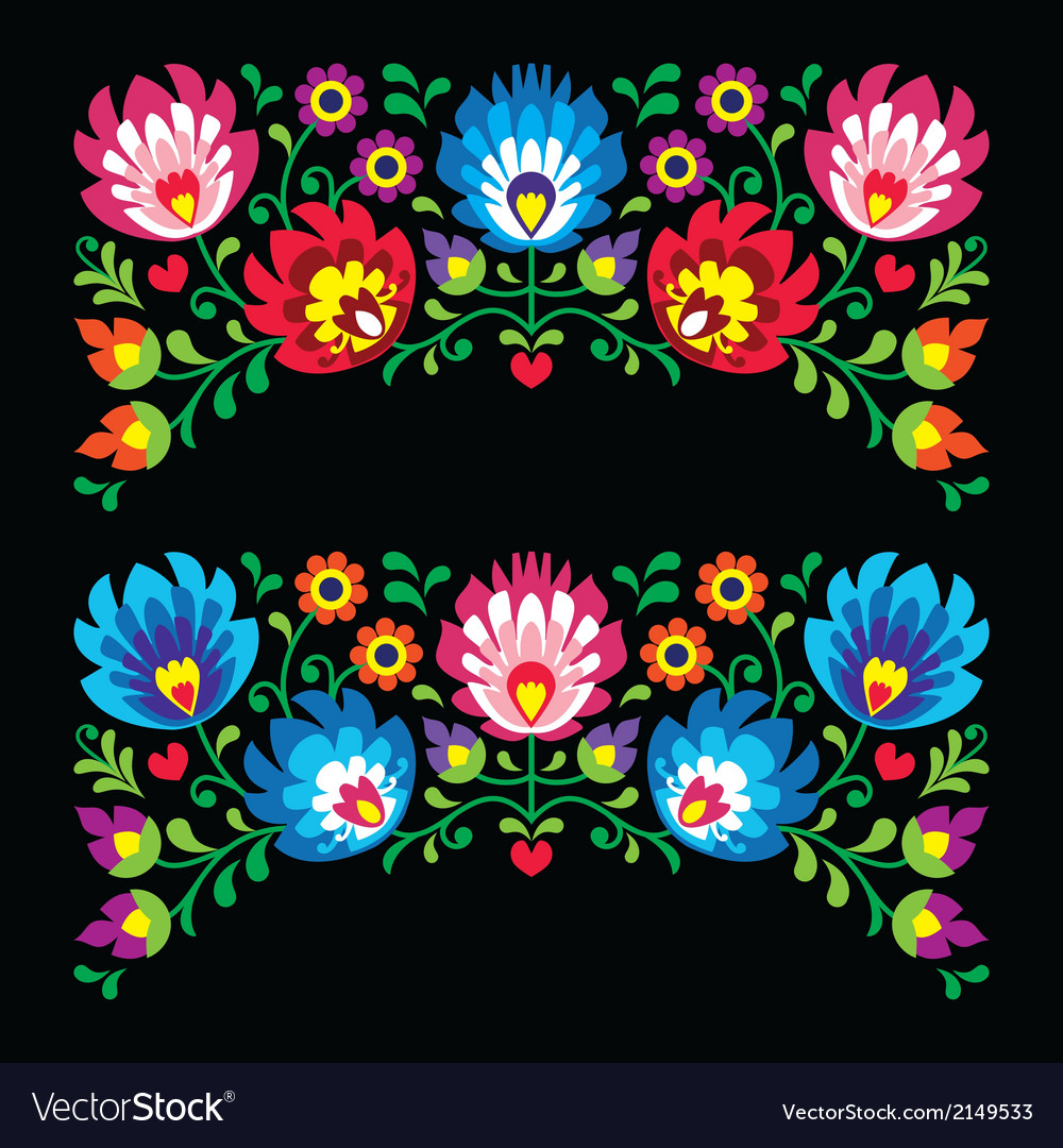 Paper Embroidery Cards Free Patterns Polish Floral Folk Embroidery Patterns For Card O