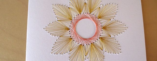 Paper Embroidery Patterns Diy Easy Flower Embroidery Card