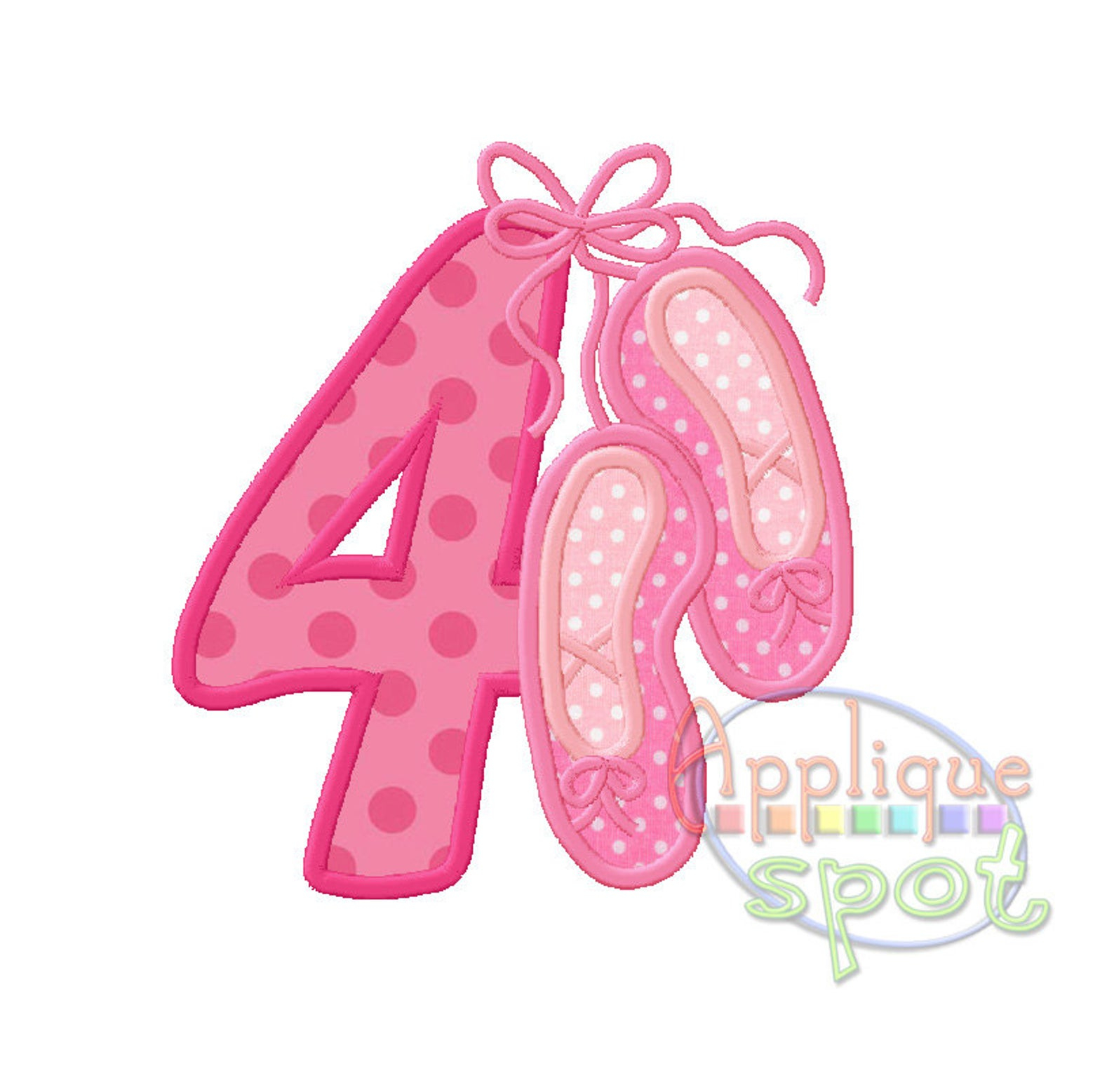 Patterns For Embroidery Machine Ballet Fourth 4th Birthday Ba Girl 4 4x4 5x7 6x10 Applique