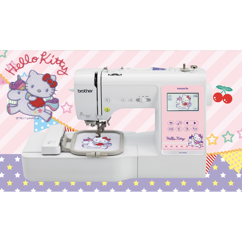 Patterns For Embroidery Machine Brother Hello Kitty 2 In 1 Embroidery Sewing Machine Nv180k