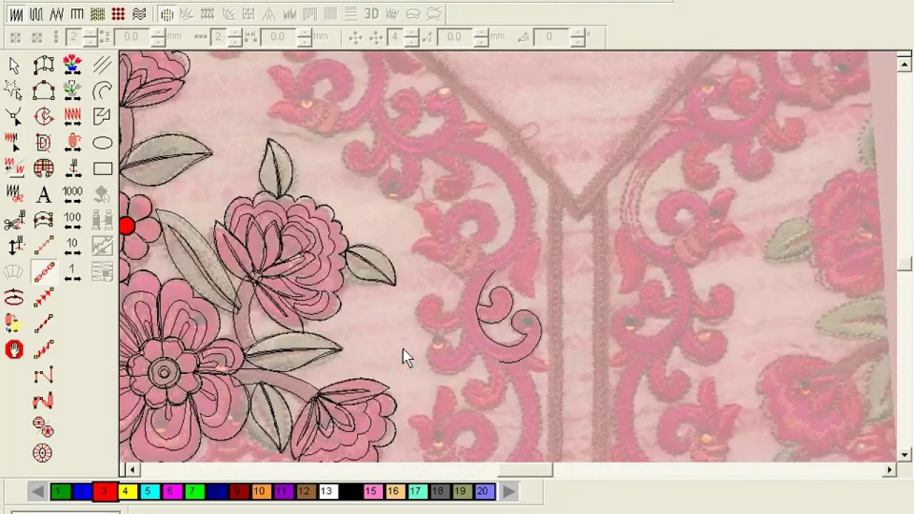 Patterns For Embroidery Machine How To Make Computer Embroidery Design Embroidery Machine Design Pat 28