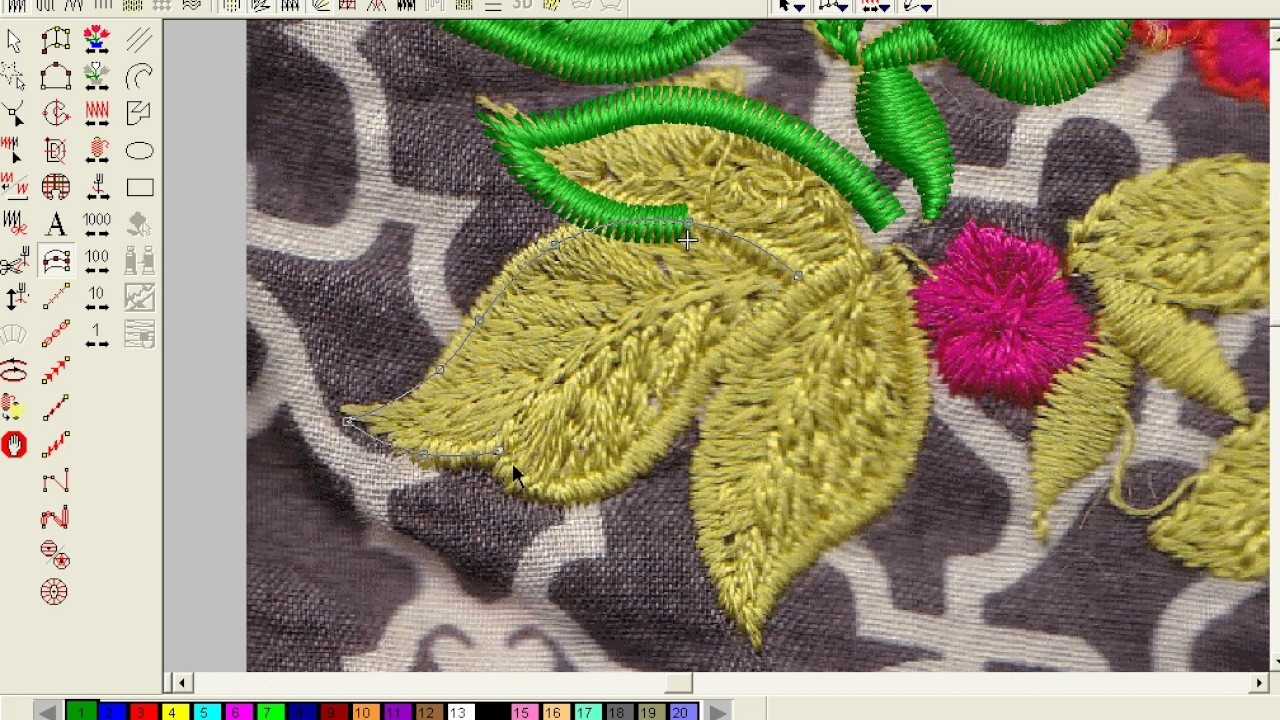 Patterns For Embroidery Machine How To Make Computer Embroidery Design Pat 1 Embroidery Machine Design