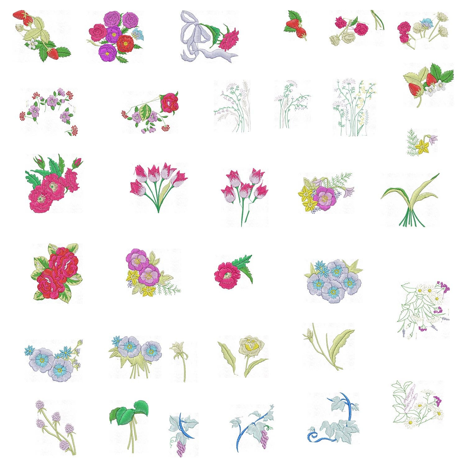 Patterns For Embroidery Machine Large Floral Patterns Memory Card Design Embroidery Machine Instant Download
