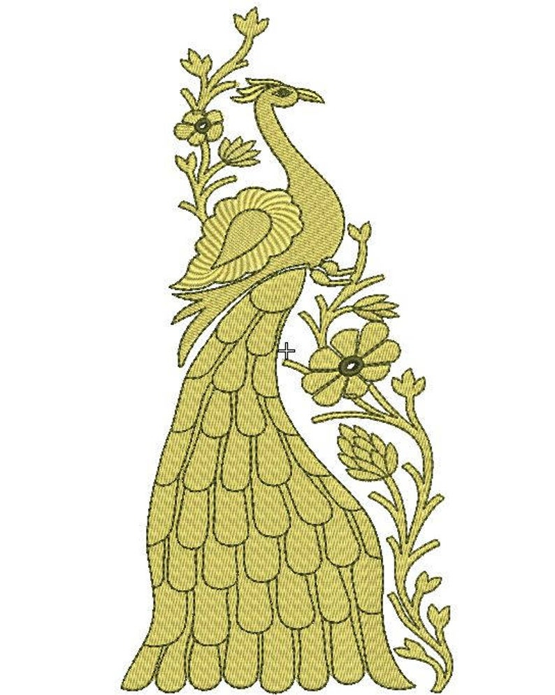 Patterns For Embroidery Machine Royal Peacock Machine Embroidery Design Peacock Machine Embroidery File Peacock Patternpaadar Club