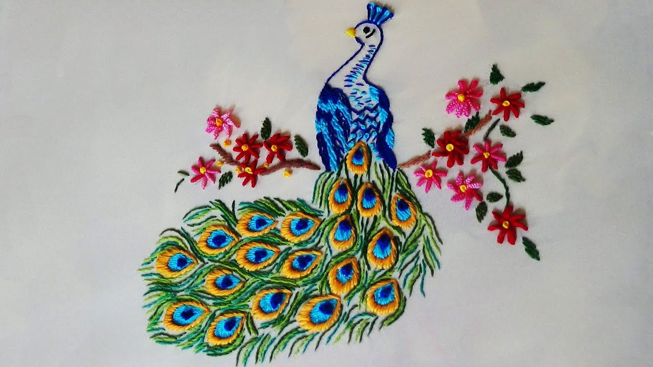 Peacock Embroidery Patterns Hand Embroidery Peacock Embroidery