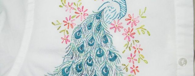 Peacock Embroidery Patterns Kitty And Me Designs Peacock Embroidery Pattern